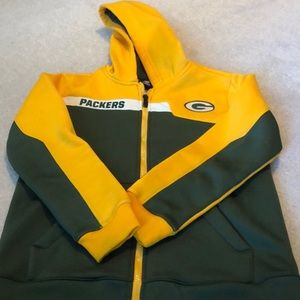 Green Bay Packers hoodie jacket M 10/12 youth